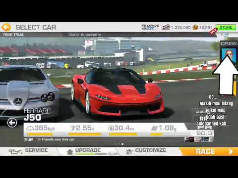 Real Racing 3 V.7.5.0 RoW MOD (Money/Gold Increase When Spent, FB Login, Online, Antibanned, NoAds)