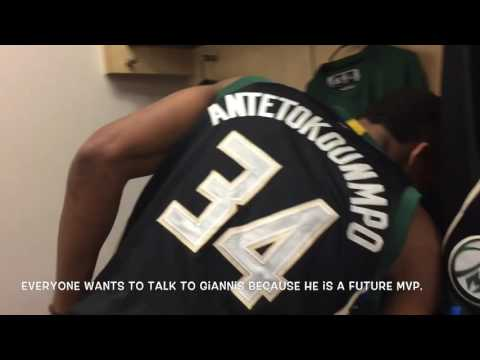 Giannis Antentokounmpo- Game winning shot vs. Knicks. The Greek Freak interview by Tony the Greek