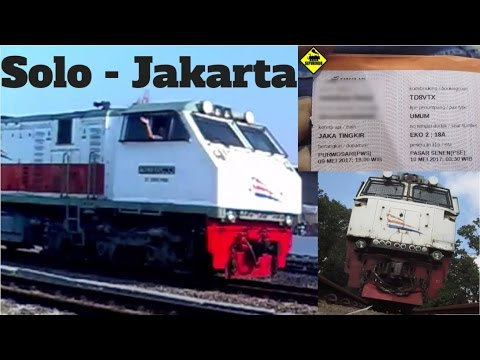 Trip Report Kereta Api Murah Solo Jakarta | KA Jaka Tingkir Stasiun Purwosari   Stasiun Pasar Senen