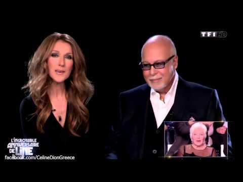 Celine Dion sings 'Feelings' to Line Renaud 28/12/2013