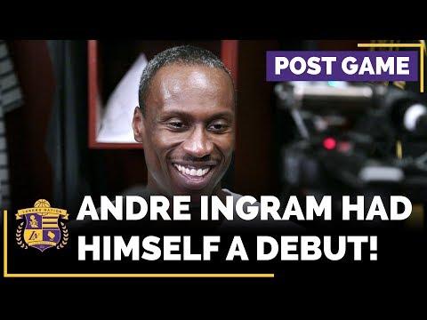 Lakers Rookie Andre Ingram After His Memorable NBA Debut (32 Year Old Rookie!)
