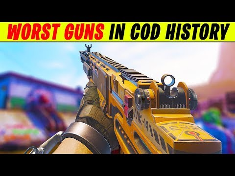Top 10 WORST Guns in COD HISTORY | Chaos