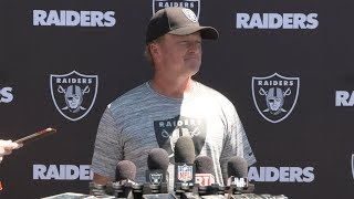 Gruden opens up minicamp, his view on Hard Knocks & wishes luck to the Warriors