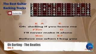 Oh Darling - The Beatles Guitar Backing Track with scale chart, chords and lyrics