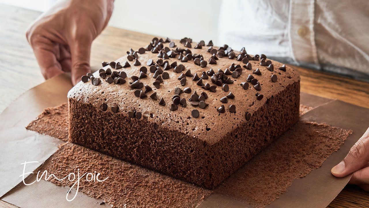 Taiwanese Chocolate Castella Cake【Moist & Soft】 | Emojoie