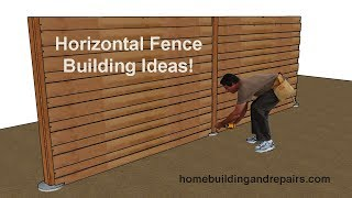 Gambar cover Wood Privacy Fencing With Horizontal Fence Pickets – Building Ideas for Do-It-Yourselfers