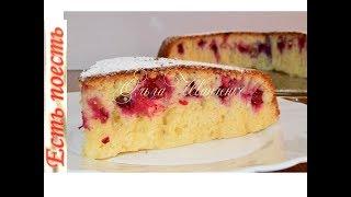 пирог с ягодами на сковороде, без духовки /Berry Pie