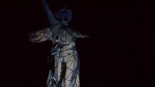 Лазерное шоу. Мамаев Курган. Волгоград. 8.05.2017