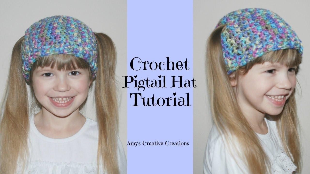 Crochet Pigtail Hat Tutorial - Crochet Jewel - YouTube