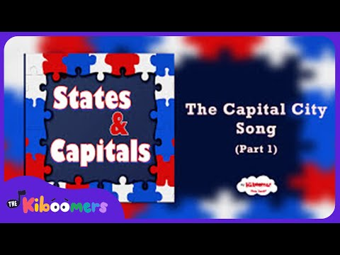 States and Capitals Songs for Children | 50 States and Capitals Songs for Kids | The Kiboomers