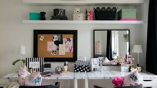 TEEN BEDROOM MAKEOVER :: THE DESK & VANITY DIY ROOM DECOR
