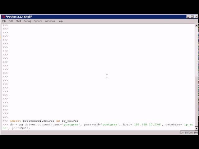 Python:  подключение к PostgreSQL