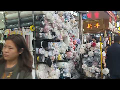 World's Largest Fabrics Wholesale Market in China Fabrics Ma
