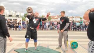 Александр Курак: гантель 100 килограмм на 5 повторений легко