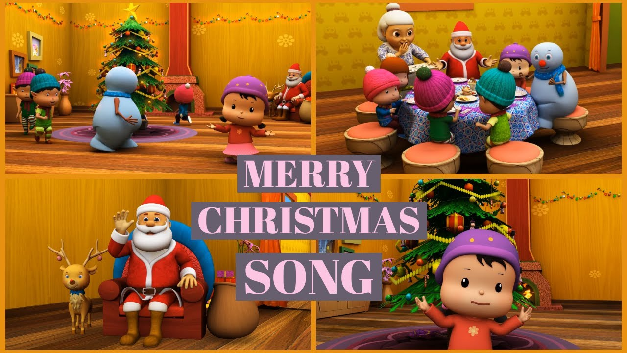 Merry Christmas Songs with Meeko Winter Break |Nursery Rhymes|Kid Song|Marqueen Tv
