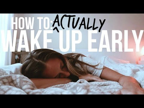 9 Secrets to ACTUALLY Waking Up Early | morning person 101