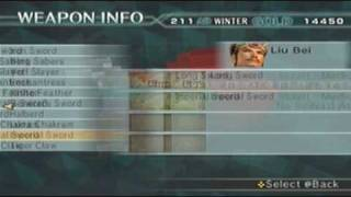 Dynasty Warriors 5 Empires - How to Obtain All 3 Weapons..