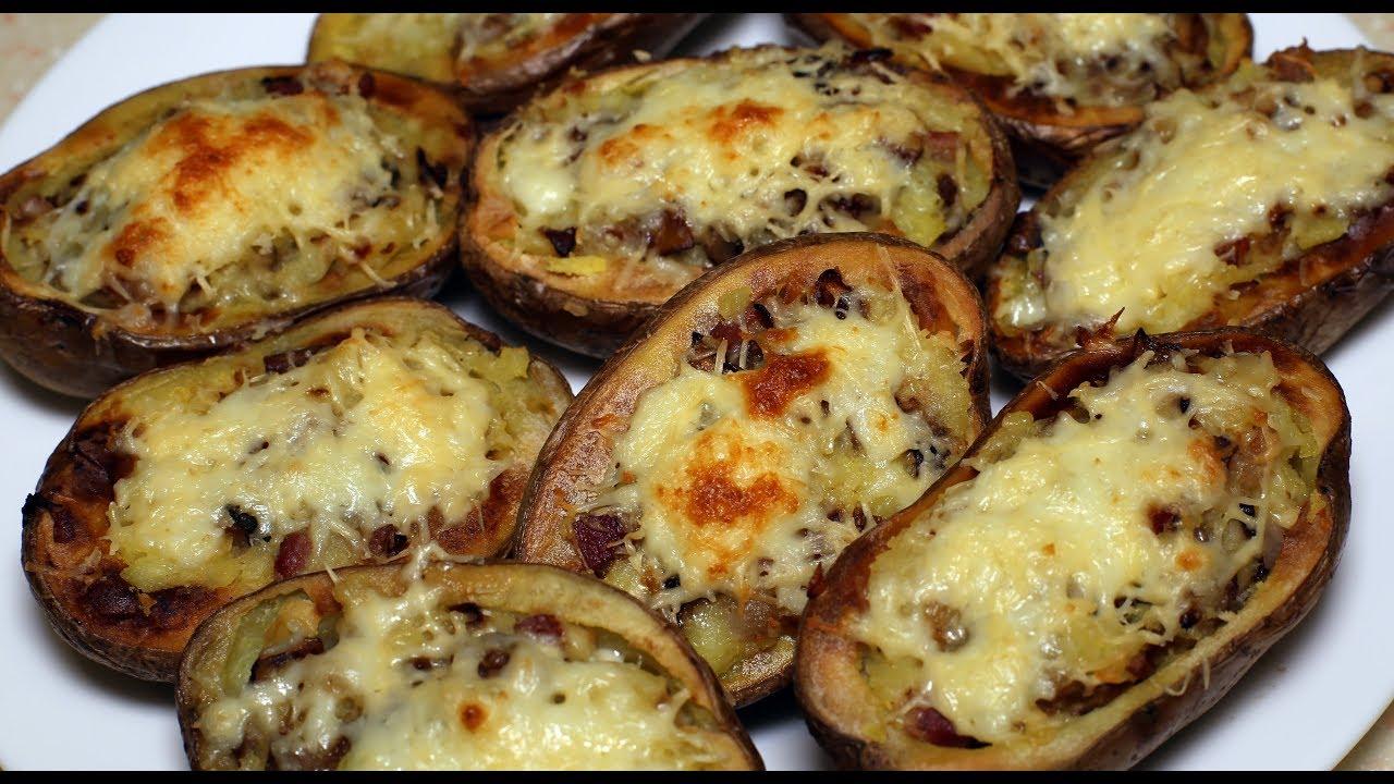 судак с грибами и сыром