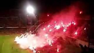 Хорватские ultras в ответ на запрет использования  пиротехники