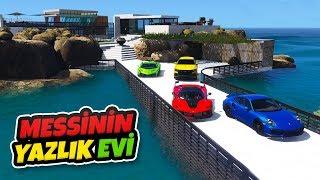 Messi'nin Yazlık Evini Gezip Arabalarını Kullanıyoruz - GTA 5