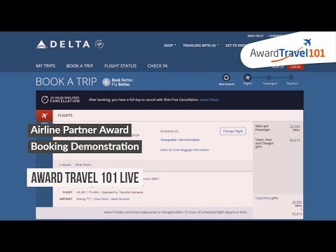 Airline Partner Award Booking Demonstration