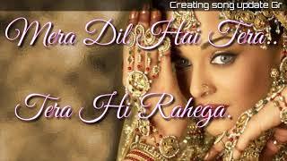 Mera Dil Hai Tera Tera Hi Rahega ||Romantic song Hindi||