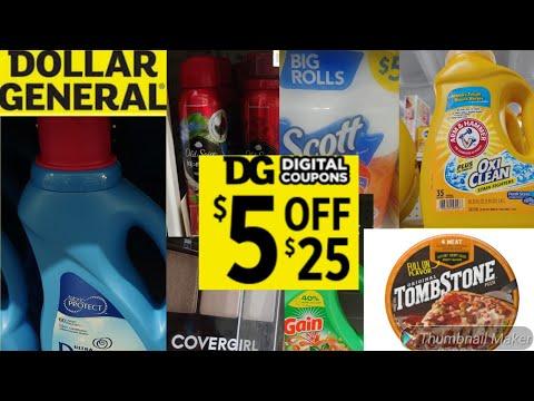 Dollar General $5 Off $25 Breakdowns For October 2020 ALL DIGITAL