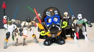 Star Wars The Force Awakens Toys Hero Mashers Darth Vader Mr Potato Head Boba Fett Stormtrooper