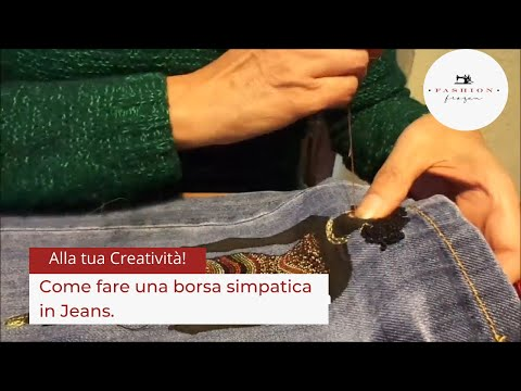 e38f5ef5ac Come fare una borsa simpatica in jeans, how to build a witty bag ...