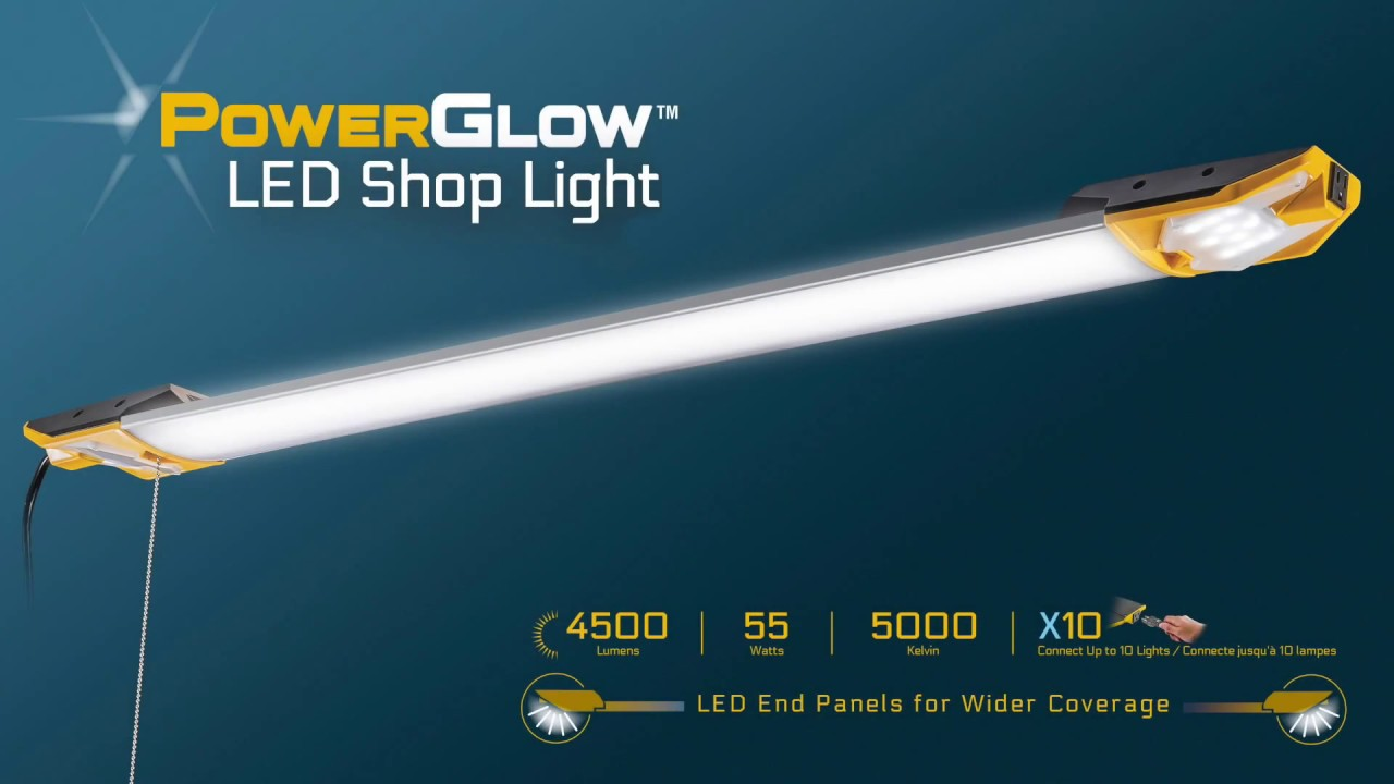 Powerglow overhead led shop light 4500 lumens