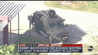 Police respond to report of shooting at high school in Parkland, Fl...