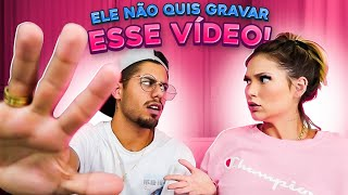 MEU NOIVO FICOU BRAVO E SAIU NO MEIO DO VIDEO!!