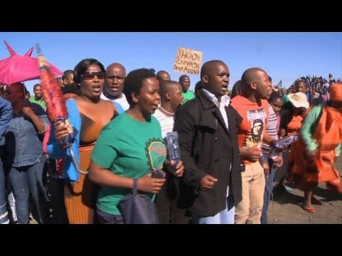 South Africa marks anniversary of Marikana bloodbath