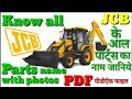 JCB all parts name with photos, Operator handbook PDF file