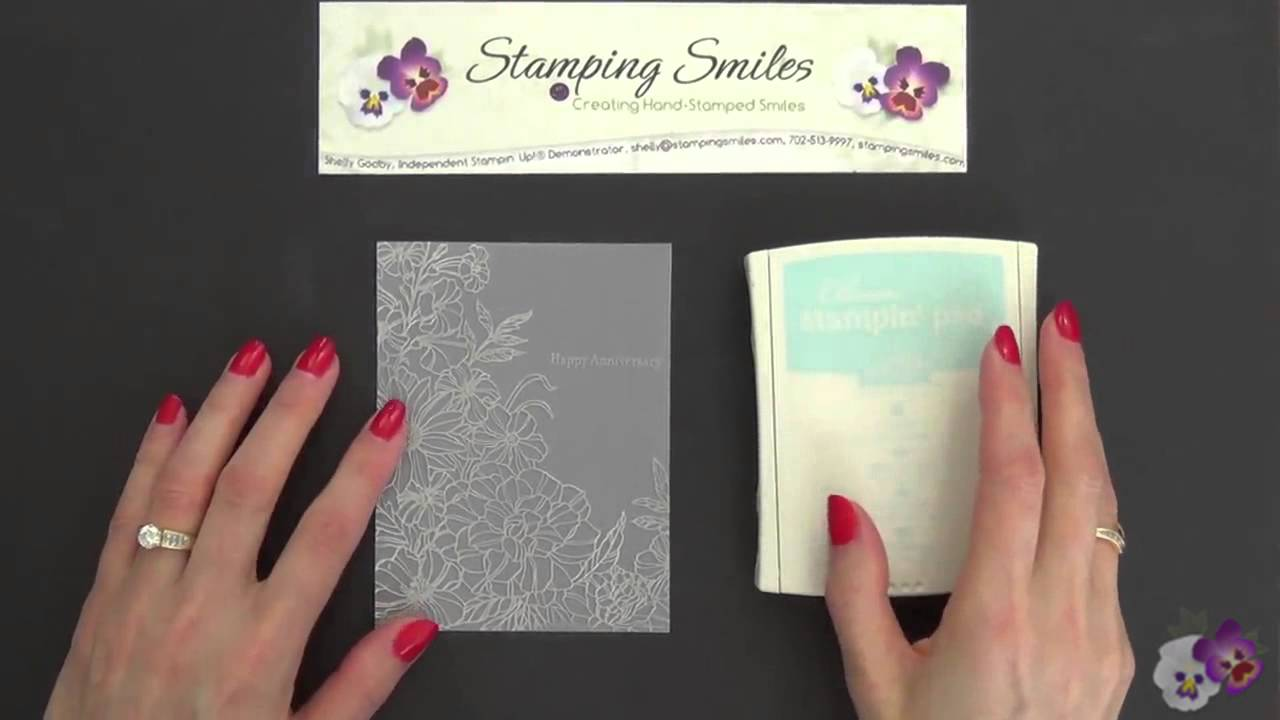 Make a beautiful silver anniversary card with stampin up corner