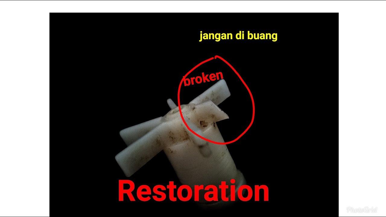 Trik memperbaiki patah kipas pompa aquarium cocok untuk ...