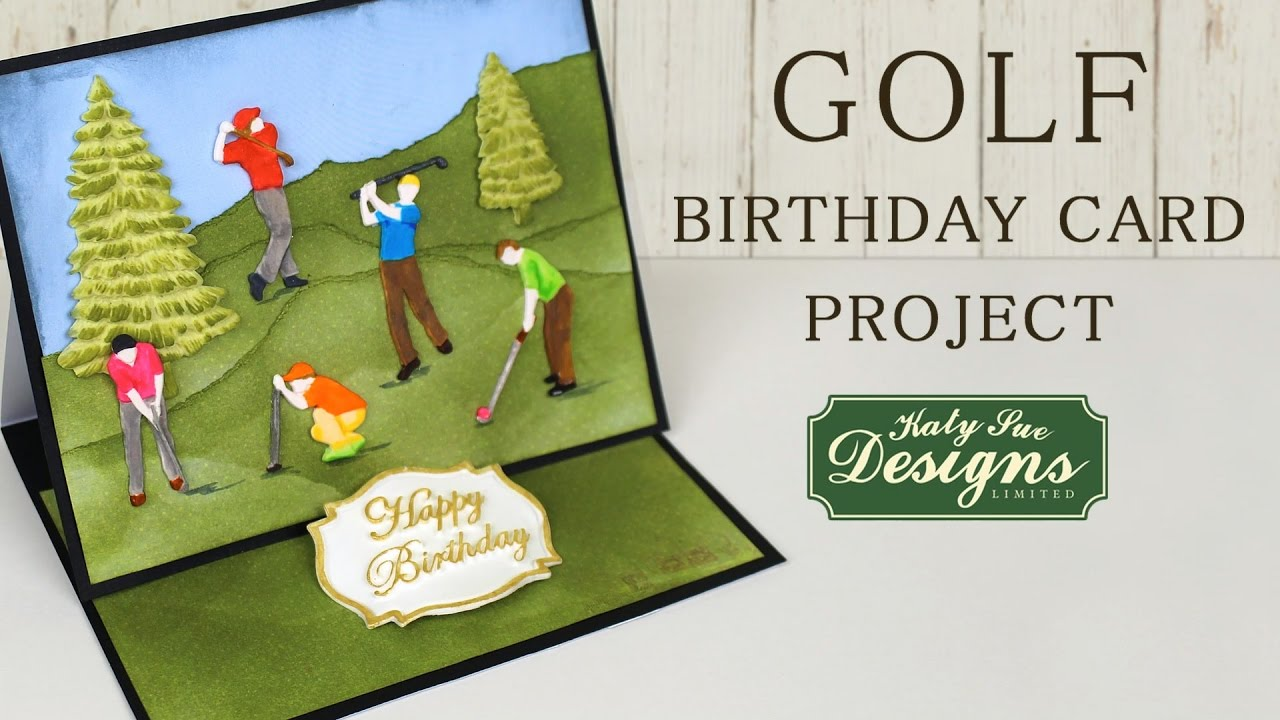 Golf Birthday Card Crafting Project Using Silicone Moulds