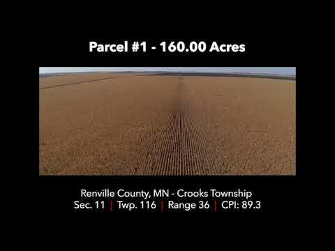 Renville County Farmland Auction Dec 11th 2017 - Parcel #1 160.00 Acres