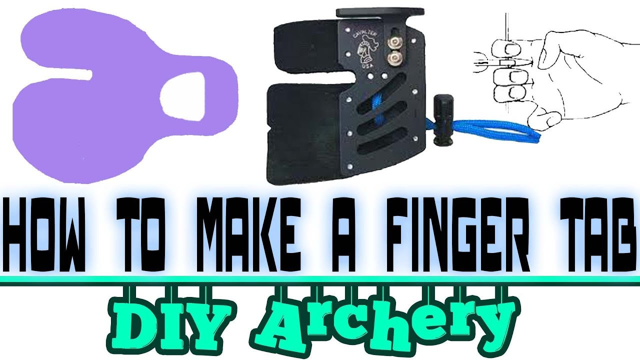 How to make DIY archery accessories - the finger tab - YouTube