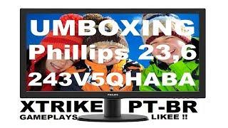 Unboxing Monitor Phillips 23,6 243V5QHABA PT-BR