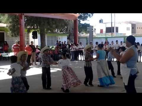 Maria dancing at school for the Mexican Revolution