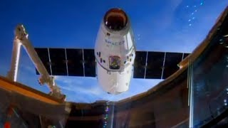 Timelapse Space X Dragon CRS-11 ISS Capture 8x