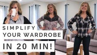 Trick to Simplify your Wardrobe in 20 min! | Minimalist Mom Life (2018)