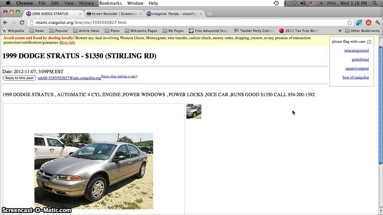 Craigslist Used Cars In Broward County