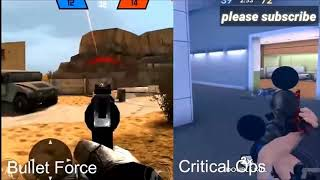 Critical Ops VS Bullet Force   Gameplay & Graphics Comparison