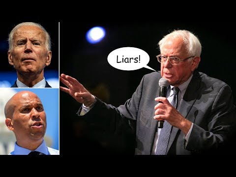 Bernie Sanders Rebuts Biden and Booker's LIES About His Progressive Policies