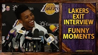 Lakers FUNNY Moments With Nick Young, Pau Gasol, Jordan Farmar And More At 2014 Exit Interviews