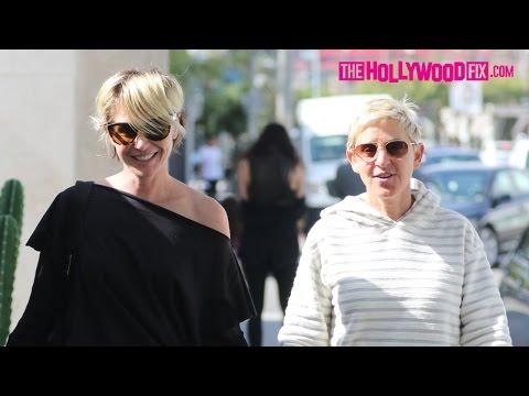 Ellen DeGeneres & Portia De Rossi Make A Cute Couple While Shopping At Vivienne Westwood 10.28.16