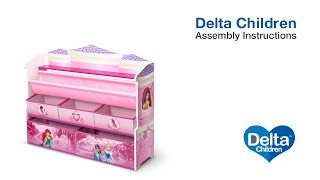 Delta Children Deluxe Book & Toy Organizer Assembly Video