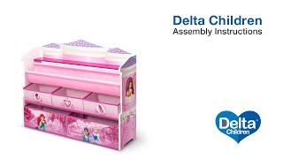 Delta Children Deluxe Book & Toy Organizer Assembly Video